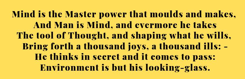 as a man thinketh poem